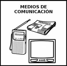 MEDIOS DE COMUNICACIÓN - Pictograma (blanco y negro)