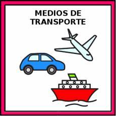 MEDIOS DE TRANSPORTE - Pictograma (color)