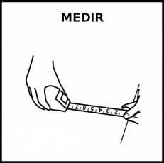 MEDIR - Pictograma (blanco y negro)