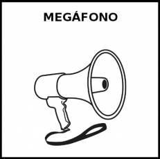 MEGÁFONO - Pictograma (blanco y negro)