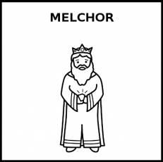 MELCHOR - Pictograma (blanco y negro)