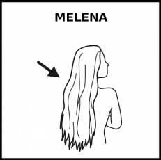 MELENA - Pictograma (blanco y negro)