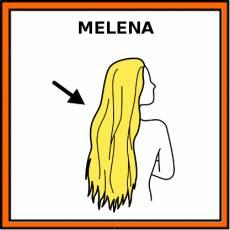 MELENA - Pictograma (color)