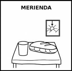 MERIENDA - Pictograma (blanco y negro)