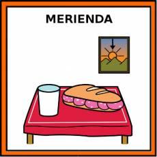 MERIENDA - Pictograma (color)