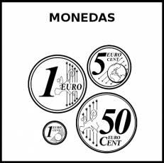 MONEDAS - Pictograma (blanco y negro)