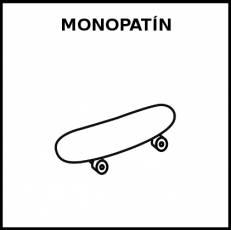 MONOPATÍN - Pictograma (blanco y negro)