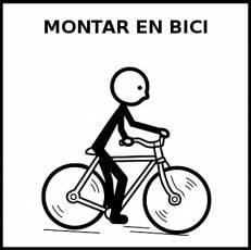 MONTAR EN BICI - Pictograma (blanco y negro)