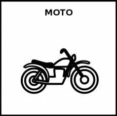 MOTO - Pictograma (blanco y negro)