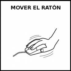 MOVER EL RATÓN - Pictograma (blanco y negro)