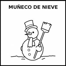 MUÑECO DE NIEVE - Pictograma (blanco y negro)