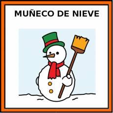 MUÑECO DE NIEVE - Pictograma (color)