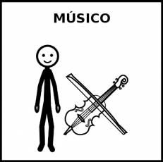 MÚSICO - Pictograma (blanco y negro)