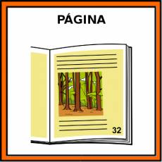 PÁGINA (LIBRO) - Pictograma (color)