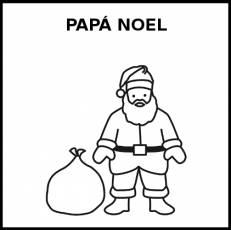 PAPÁ NOEL - Pictograma (blanco y negro)