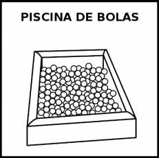 PISCINA DE BOLAS - Pictograma (blanco y negro)