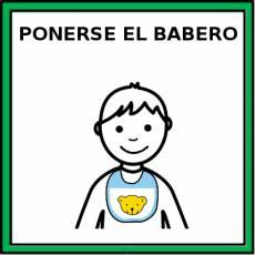 PONERSE EL BABERO - Pictograma (color)