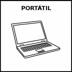 PORTÁTIL - Pictograma (blanco y negro)
