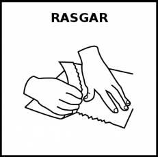 RASGAR - Pictograma (blanco y negro)