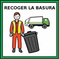 RECOGER LA BASURA - Pictograma (color)