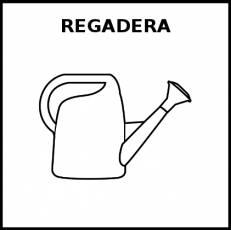 REGADERA - Pictograma (blanco y negro)