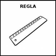 REGLA (MEDIDA) - Pictograma (blanco y negro)