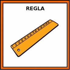 REGLA (MEDIDA) - Pictograma (color)