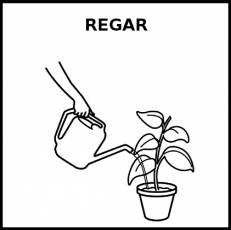 REGAR - Pictograma (blanco y negro)