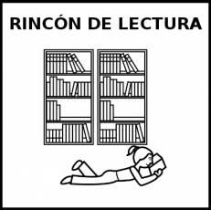 RINCÓN DE LECTURA - Pictograma (blanco y negro)