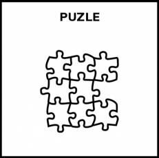 PUZLE - Pictograma (blanco y negro)