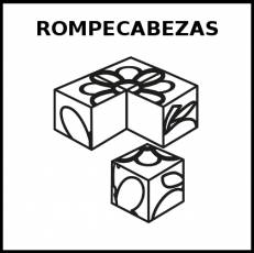 ROMPECABEZAS - Pictograma (blanco y negro)