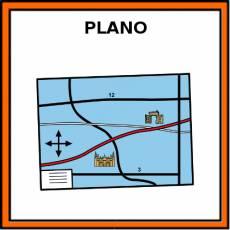 PLANO (MAPA) - Pictograma (color)