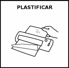 PLASTIFICAR - Pictograma (blanco y negro)
