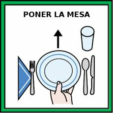 PONER LA MESA - Pictograma (color)
