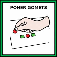 PONER GOMETS - Pictograma (color)