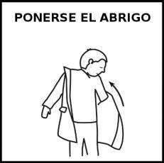 PONERSE EL ABRIGO - Pictograma (blanco y negro)