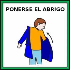 PONERSE EL ABRIGO - Pictograma (color)