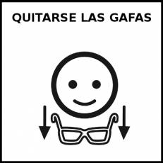 QUITARSE LAS GAFAS - Pictograma (blanco y negro)
