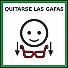 QUITARSE LAS GAFAS - Pictograma (color)