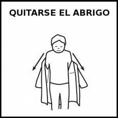 QUITARSE EL ABRIGO - Pictograma (blanco y negro)