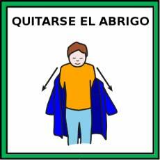 QUITARSE EL ABRIGO - Pictograma (color)