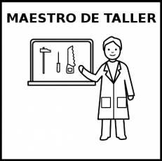 MAESTRO DE TALLER - Pictograma (blanco y negro)