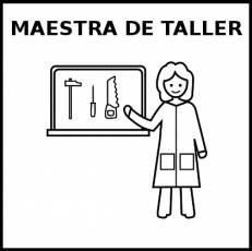 MAESTRA DE TALLER - Pictograma (blanco y negro)