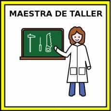 MAESTRA DE TALLER - Pictograma (color)