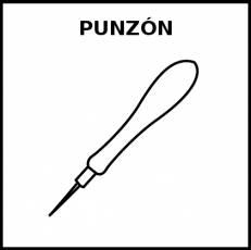 PUNZÓN - Pictograma (blanco y negro)