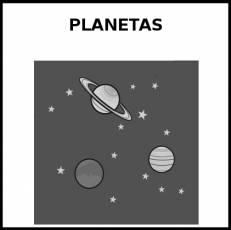 PLANETAS - Pictograma (blanco y negro)