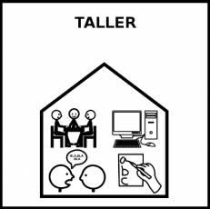 TALLER (AULA) - Pictograma (blanco y negro)