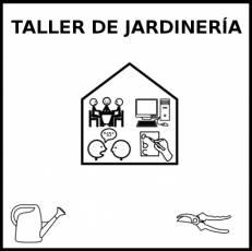 TALLER DE JARDINERÍA - Pictograma (blanco y negro)