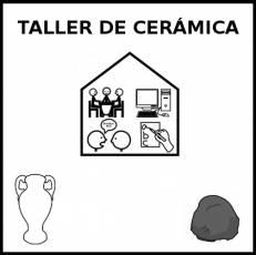 TALLER DE CERÁMICA - Pictograma (blanco y negro)