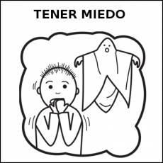 TENER MIEDO - Pictograma (blanco y negro)